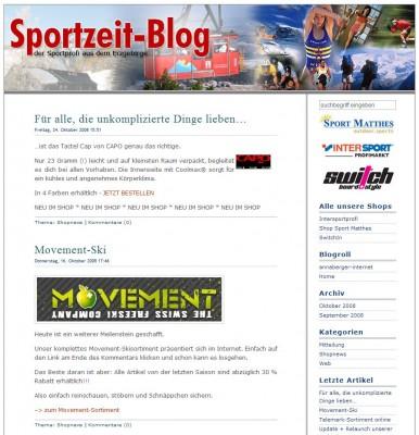 Sportzeit-Blog 2008 Sport Matthes GmbH