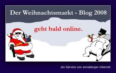 Weihnachtsmarktblog Ankuendigung Start 12.11.2008