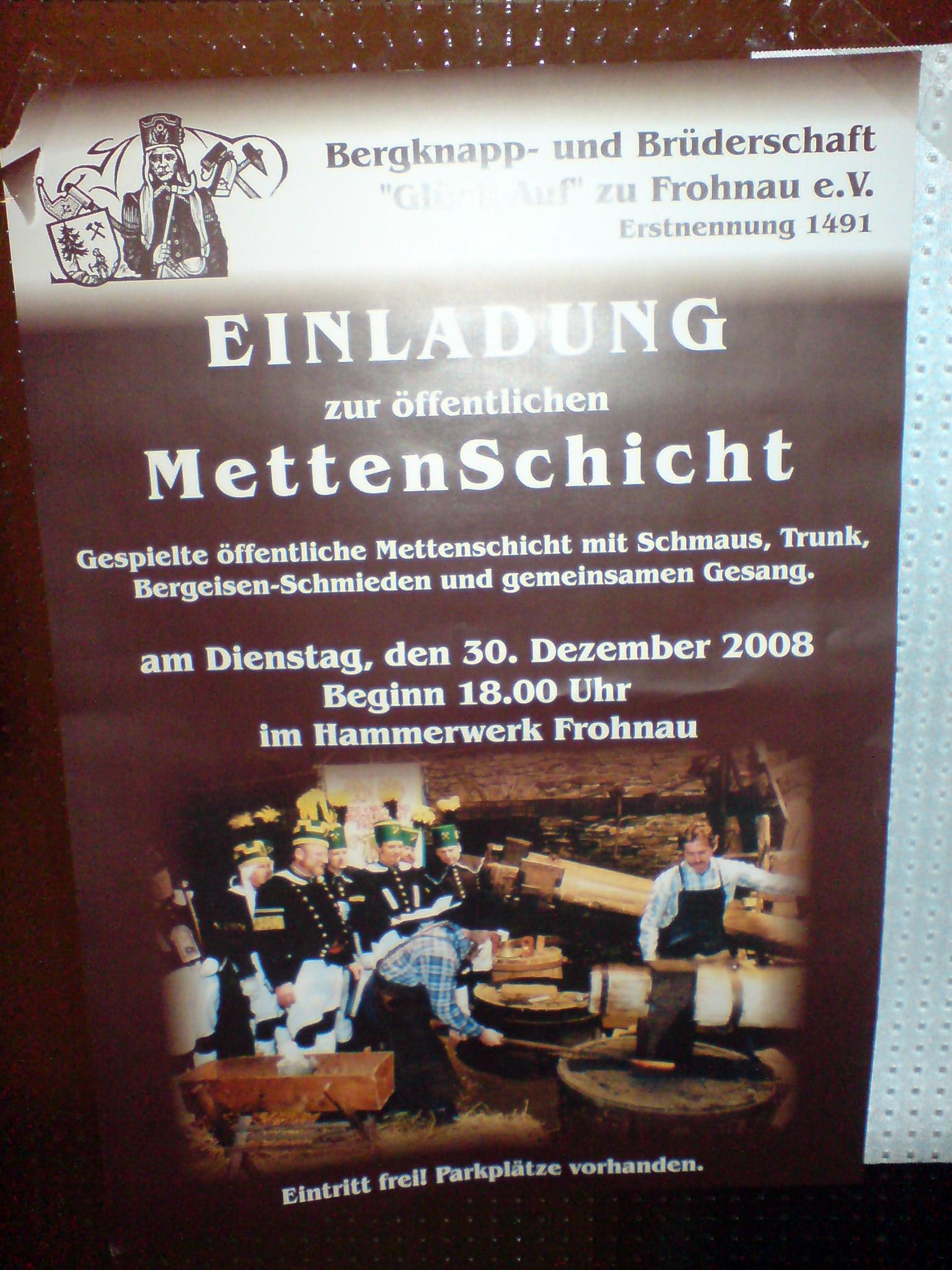 MettenSchicht im Hammerwerk Frohnau 2008