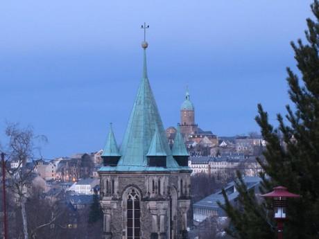 Turm von St. Katharinen und die St. Annenkirche