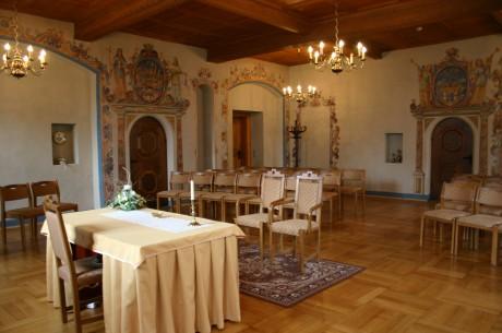 Berghauptmannszimmer des Annaberger Rathauses