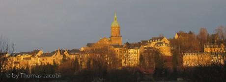 Blick auf St. Annen von der Waldschlößchenstraße aus.