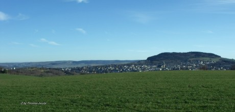 Blick von der Teufelskanzel auf Annaberg-Buchholz