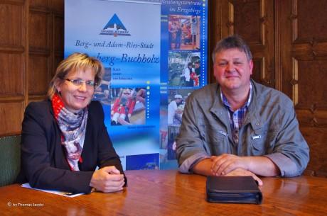 Oberbürgermeisterin Frau Barbara Klepsch und René Goldschadt